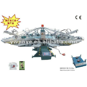 YH Series Automatic Textile Screen Printer for T-shirt,clothes,nonwoven & garments