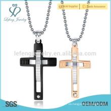 La joyería pendiente de la cruz caliente del doble de la venta, ama por siempre diseño de los colgantes