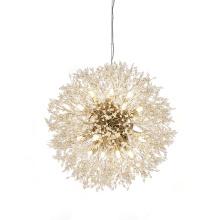 Nordic New Style Dandelion Branches Crystal Golden Chandelier Pendant Lamp