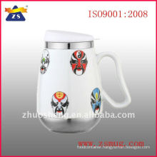 ceramic mug with stainless steel base