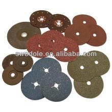 disco de fibra de zircônia azul abrasivo para aço inoxidável