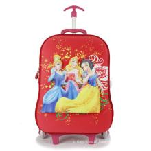 Crianças mochila carrinho de bagagem de mão