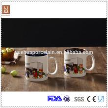 Tasse en céramique en glaçage à double couleur de bonne qualité 450ml