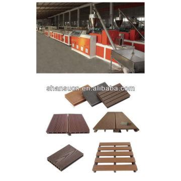 Línea de producción de perfiles de suelo WPC / extrusora de perfiles de plástico para plataformas de madera / máquina de plástico de madera