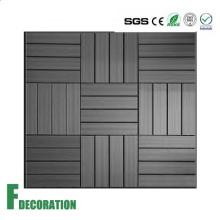 Resistencia al impacto de bajo costo Fácil de instalar Azulejos de madera antideslizante compuesto decking