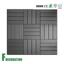 Low Cost Impact Resistance Easy Install Non-Slip Wood Composite Decking Tiles