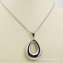 Hergestellt in China Schmuck Edelstahl Hollow Silver Waterdrop Halsketten