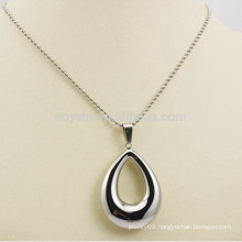 Made in China Jewelry Stainless Steel Hollow Silver Waterdrop Necklaces