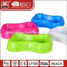 HAIXING bone cat shape plastic travel supreme dog bowl