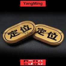 Oval marca de posicionamiento de póquer chip (YM-LE03)