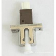 Mu-LC симплексный металлический волоконно-оптический адаптер
