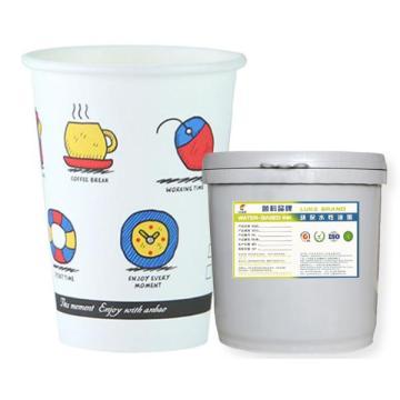 Type de PE simple d'encre d'eau de tasse de papier