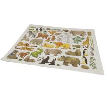 Impermeable + respetuoso del medio ambiente Tamaño personalizado venta de fábrica varios ampliamente utilizado impresión etiqueta de la pared niños