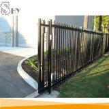 Wrought iron steel sliding iron main gate design