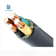 Cable de alimentación ZR-YJV Cable de PVC ignífugo de cobre / aluminio XLPE