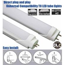 Shen zhen factory price 5 years warranty plug and play ballast compatible UL DLC 4 foot led tube 18 Watt