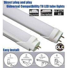 Shen zhen preço de fábrica 5 anos de garantia plug and play lastro compatível UL DLC 4 pé levou tubo de 18 Watt