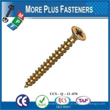 Feito em Taiwan Phillips ou Slot Flat Flat Counterboarded Head Wood Screw