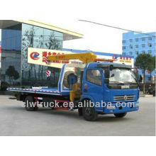 Dongfeng DLK 4400mm flatbed wrecker towing truck
