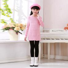 neueste Design rosa Strick Kaschmir-Pullover für Mädchen