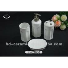 Vendas diretas 4pcs high-end 4pcs banheiro cerâmico conjuntos de porcelana