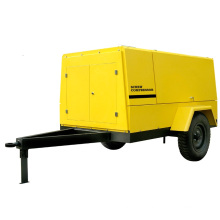 Outdoor Construction Wheels Diesel Engine Drive Portable Screw Compressor (PUD12-10)