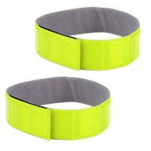 Reflective Adjustable Hook & Loop Arm Bands Gear for Jogging, Biking, Walking