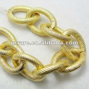 Thick Gold Color Aluminium Chain Designs for Jewelry and Garment and Belt