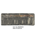 Wholesale 11 piece bamboo handle private label hot cosmetic brush set