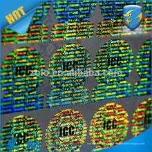 Bonne qualité faite dans l'autocollant hologramme personnalisé Shenzhen ZOLO
