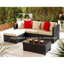 Outdoor / Pátio / Jardim / Móveis de vime Set de sofá de vime de vime