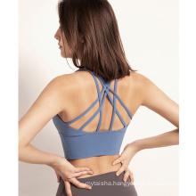 2020 European and American Sexy High Quality Sport Bra Woman Sport Fitness Yoga Wear Ladies Fitness Tops Indoor Yoga Bra