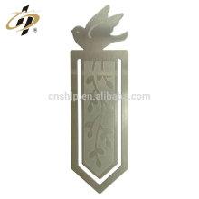 Personnaliser le métal argenté etch logo d'oiseau métal cuivre signet