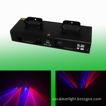 4 Lens Red and Blue Laser DMX Disco Light Show System