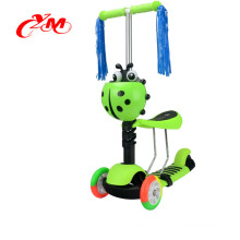 Designed kids scooter with ribbon , 3 in 1 mini kick scooter with seat , Factory direct supply kids scooter 3 wheel