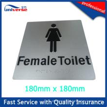 Sinal do toalete fêmea / placa do sinal do toalete de Austrália