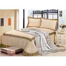 3pcs satin / microfiber queen satin bedspreads