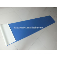 blue and red rubber cushion floor runner