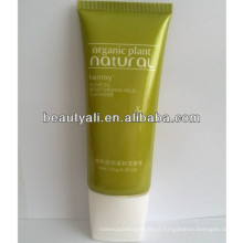 Tubo macio liso oval colorido, embalagem cosmética do tubo