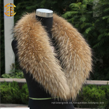 Chaleco de piel de mapache real mujeres `s cuello calentadores piel bufanda chal