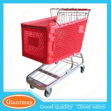los mejores productos para las dimensiones de la carretilla del plástico del supermercado de la importación 180L