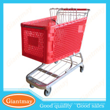 melhores produtos para importar dimensões do carrinho de supermercado de plástico 180L
