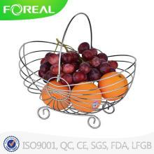 Dernier gros panier de style européen décoration intérieure panier de fruits en fil
