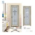 Luxury Aluminium Frame Waterproof  Flush Bathroom Door