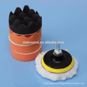 "7Pcs 3/5/6/7"" Sponge Polishing Waxing Buffing Pads Kit Set Compound For Polishing Auto Car"