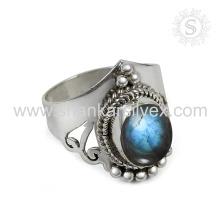 Splendid Labradorite Gemstone Silver Ring atacado 925 Sterling Silver Jewelry Jaipur Online Prata Jóias