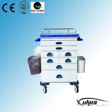 High Quality Steel Painted Hospital Medical Emergency Trolley (N-7)