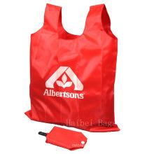 Tragbare Nylon Falttasche, Faltbare Einkaufstasche (HBFB-37)