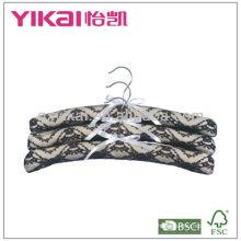 Padded cotton coat hangers