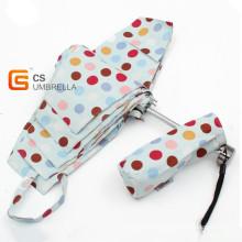 Colorful Dots Cover Mini 5 Folding Umbrella (YSF5003B)